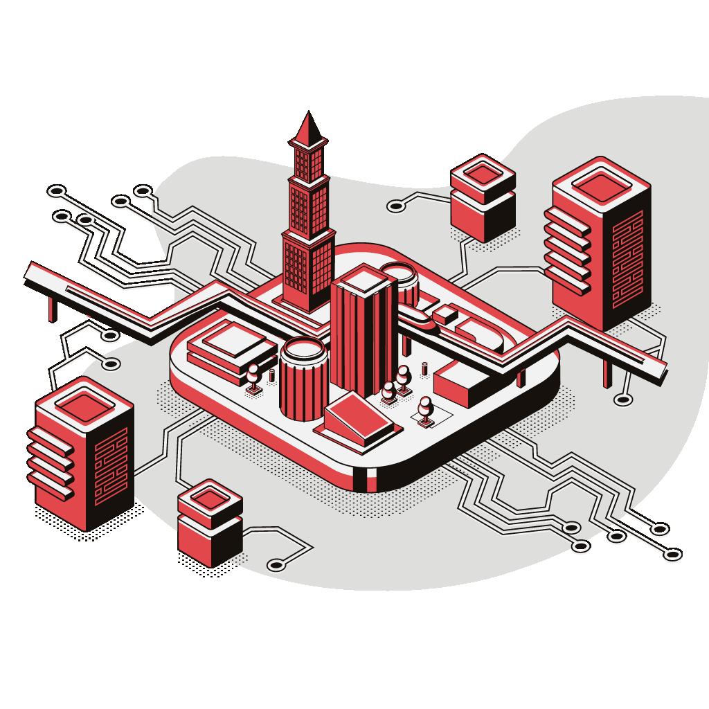 Illustrazione per la sezione di Big Data